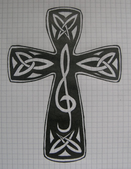 High Quality Tribal Cross Tattoos